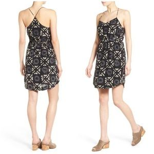 Madewell Starview Batik Grid Cami Mini Dress